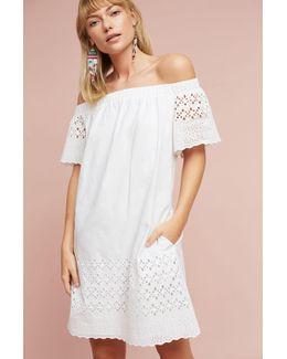 Off-the-shoulder Eyelet Dress