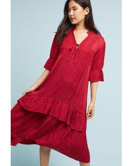 Jacquard Ruffled Dress