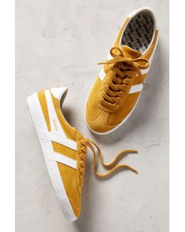 Yellow Suede Sneakers