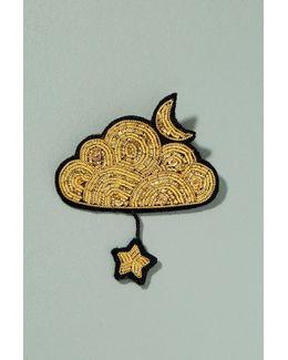 Cloud Star Pin Badge