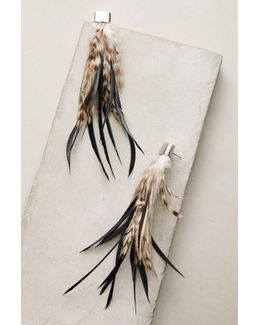 Polly Feather Drop Earrings