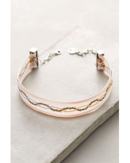 Floral Ribbon Choker Necklace