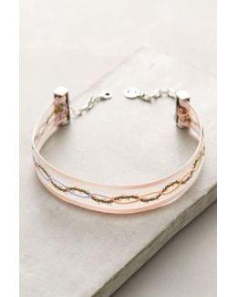 Floral Ribbon Choker Necklace