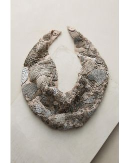 Danielle Grey Scarf Necklace
