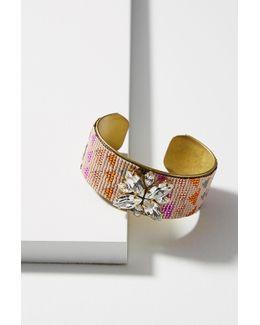 Versive Beaded Cuff Bracelet