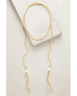 Pearled Wrap Necklace