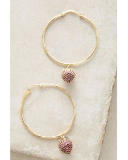 Strawberry Hoop Earrings