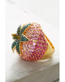 Strawberry Cocktail Ring