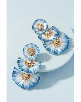 Raffia Palm Drop Earrings