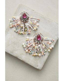 Color Burst Drop Earrings