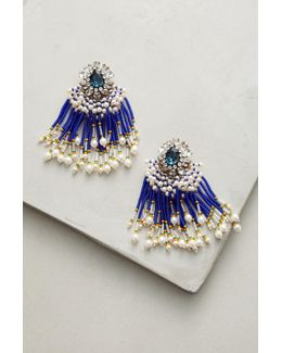 Cobalt Cascade Drop Earrings