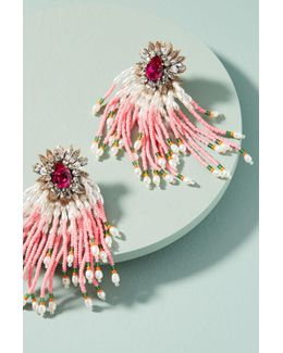Pink Cascade Drop Earrings