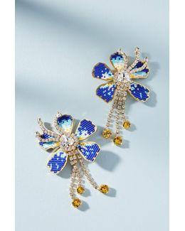 Iris Flower Drop Earrings