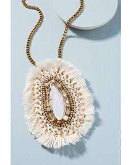 Asha Fringed Pendant Necklace
