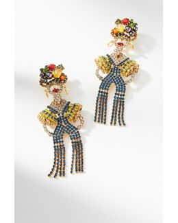 Maria Fringed Drop Earrings