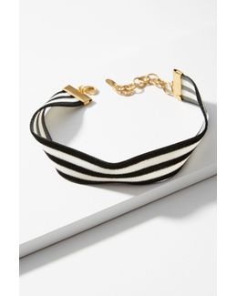 Constrast Stripes Choker Necklace