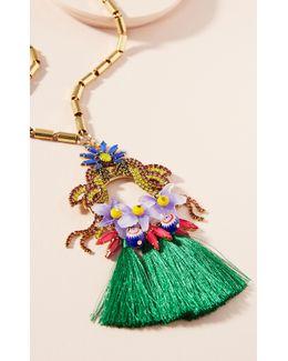 Jayla Flower Pendant Necklace