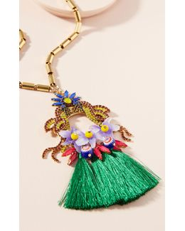 Jayla Flower Pendant Necklace