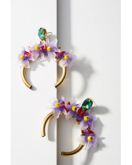 Bliss Flower Hoop Earrings