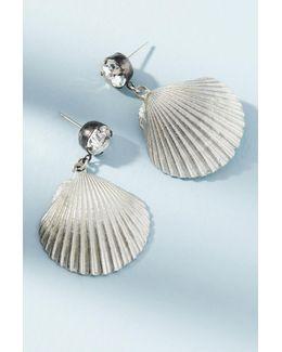 Shiny Shell Drop Earrings