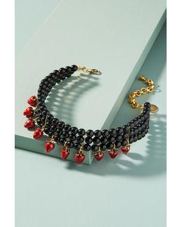 Strawberry Charm Choker Necklace