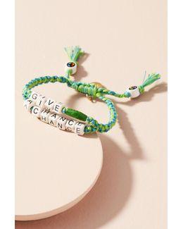 Beaded Phrases Bracelet