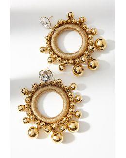 Gilded Globe Hoop Earrings