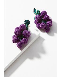Crocheted Fruit Drop Earrings
