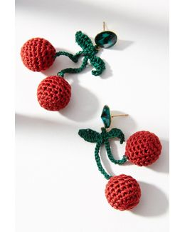 Crocheted Fruit Drop Earrings