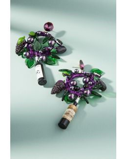 Grape Charm Hoop Earrings