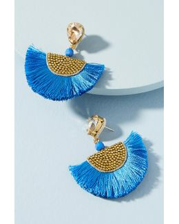 Petite Tasseled Fan Drop Earrings
