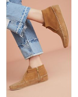 Suede Moccasin Boots