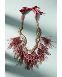 Wispy Feather Layered Necklace