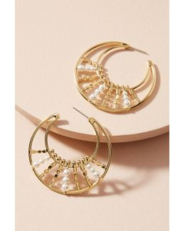 Roscoe Pearl Hoop Earrings