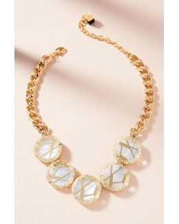 Ray Pearl Collar Necklace