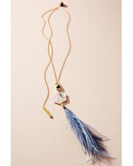 Shun Feather Pendant Necklace
