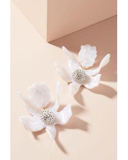 Crystal Lily Drop Earrings