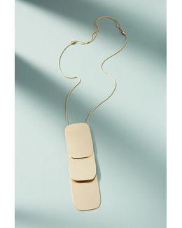 Layered Panel Pendant Necklace