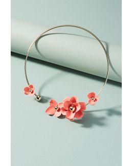 Black Dahlia Collar Necklace