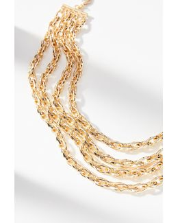 Braided Chains Collar Necklace