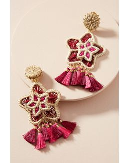 Star Tassel Drop Earrings