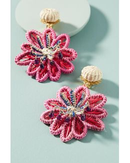 Woven Seastar Drop Earrings