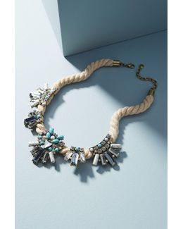 Corde Crystal Bib Necklace