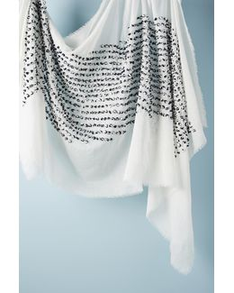 French-knotted Silk Scarf