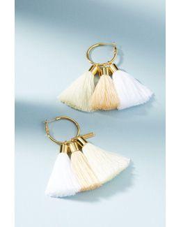 Triple Tassel Drop Earrings