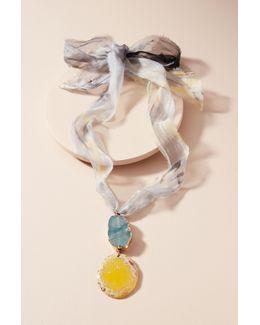 Dream Sequence Silk Pendant Necklace