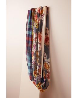 Floral & Plaid Infinity Scarf