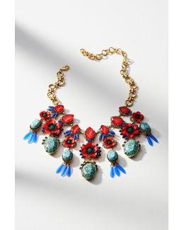 Poppy Bib Necklace