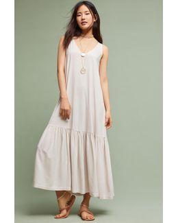 Pasadena Flounced Maxi Dress, Pink