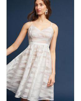 Livana Fit-and-flare Dress, White